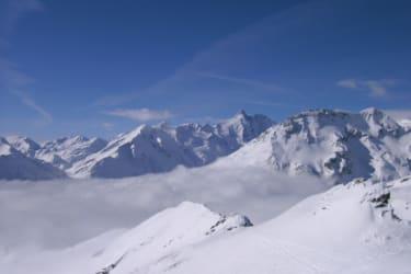 Schifahren mit Panoramaaussicht