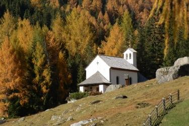 Die Gipperkapelle in unmittelbarer Nähe zur Hütte