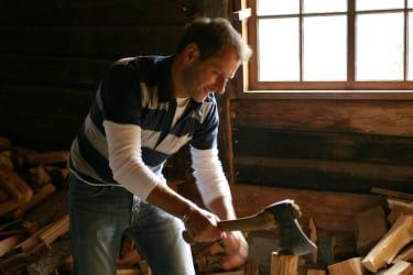 Wenn Mann oder Frau Lust auf Holz hacken hat...