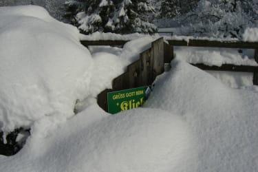 Hoftafel im winter