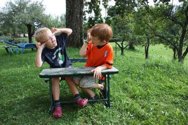 Burgstallerhof:Niklas und Arno