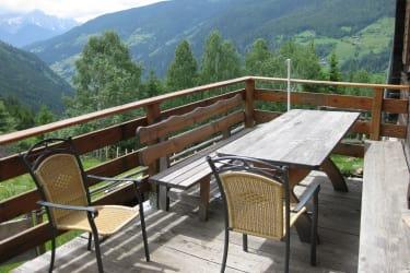 Terrasse Blick Richtung Süden/Dolomiten
