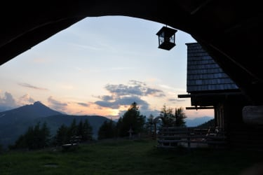 herrlicher Ausblick zu den Bergen