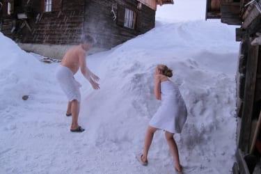 ...abkühlung im Pulverschnee
