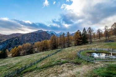 Berglandschaft vor der Hütte