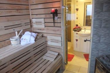 Unsere neu entstandene  Sauna !