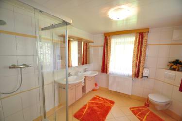 Badezimmer Ferienwohnung Waldblick