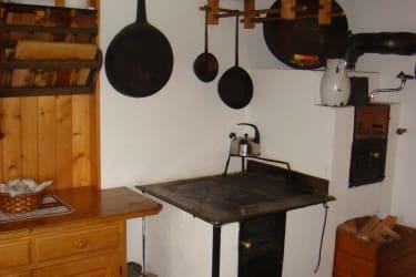 Küche mit Holzherd