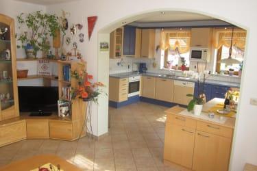 Küche und Essbereich FeWo 1