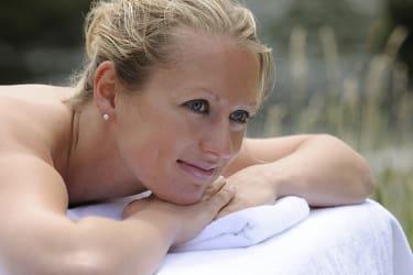 Massage unter freiem Himmel
