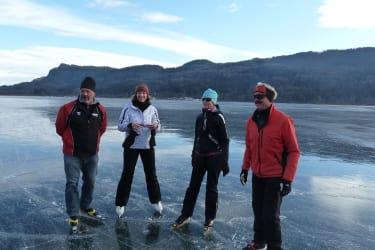 Spaß beim Eislaufen