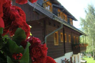 Ansicht mit Blumen