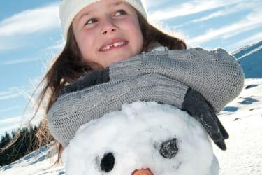 Hurra! ein Schneemann...