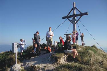 Gipfelsieg auf unserem Hausberg, dem Schwarzkogel
