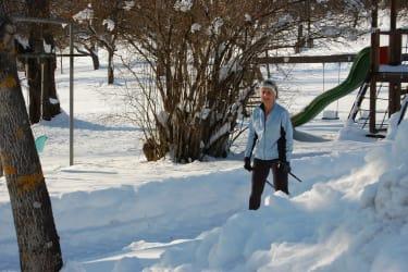 Bewegung in Winterlandschaft