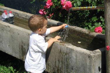 Quelle mit Trinkwasserqualität