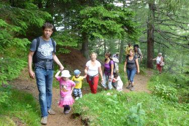 Wanderung mit Gästen