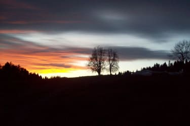 Sonnenuntergang am Lindenhof