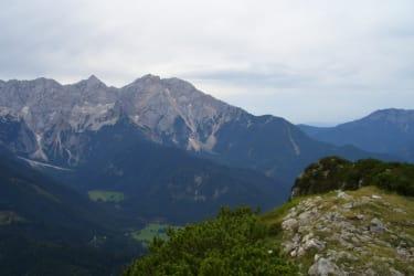 Blick auf die Steiner Alpen