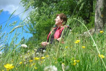Natur genießen Blumenwiese relaxen