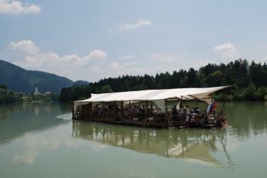 Floßfahrt auf der Drau ( ab einer Woche Aufenthalt eine Floßfahrt gratis von Mai bis September