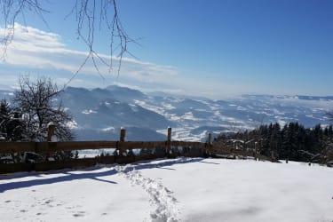 Winterlandschaft mit herrlichen Weitblick