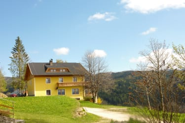 Guesthouse with view of the Weinebene