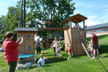The playground is the big meeting place