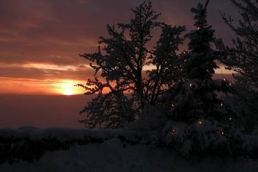 Weihnachten- Sonnenuntergang