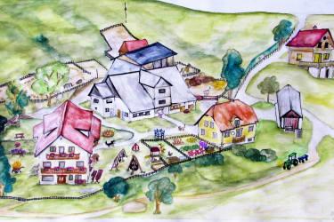 Lageplan Bauernhof Pension Juri