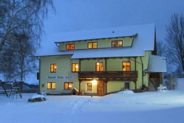 Bergwinter in Kärnten am Bauernhof Pension Juri