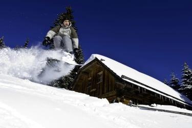Panoramahütte Snowboard