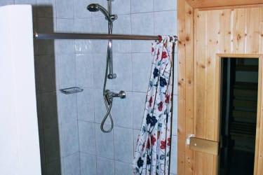 Panoramahütte Dusche mit Blick Sauna