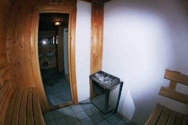 Sauna Blick Waschraum Erdgeschoß