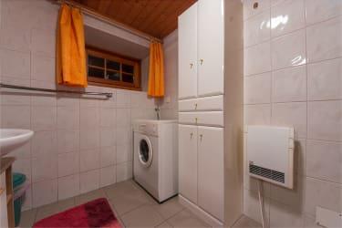 Waschmaschine im Erdgeschoss