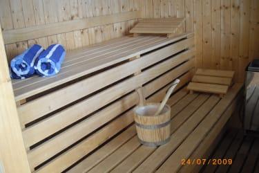 Die hauseigene Sauna