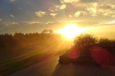 Biohof Haunschmid-Sonnenuntergang vom Balkon