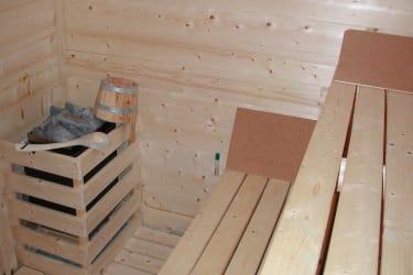 unsere finnische Sauna