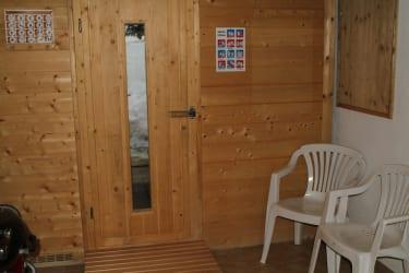 Vorraum zur Sauna