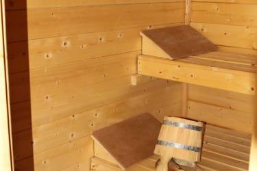 im Saunabereich...