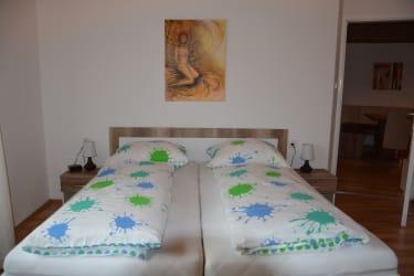 Urlaubsnest - Schlafzimmer mit Infrarotkabine