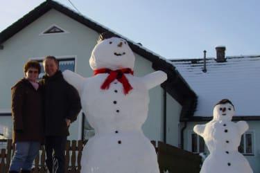 Ganz schön großer Schneemann