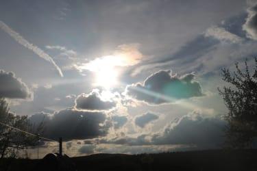 Himmel im Sommer nach einen Gewitter