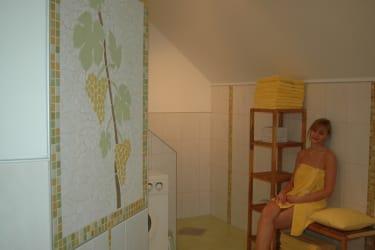 Bad und WC in der FeWo