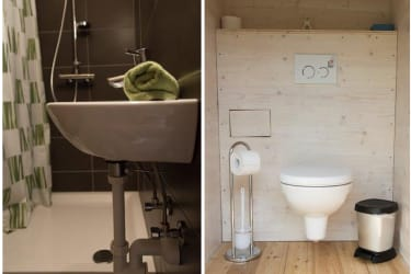 Wald-Genuss-Erleben - Blockhaus/Badezimmer