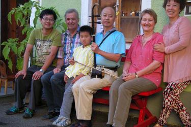 Sehr nette Gäste aus China mit Hermann und Elisabeth Gerstbauer