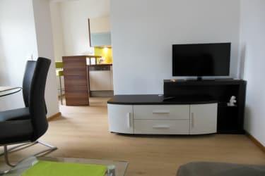Wohnzimmerblick von Couch