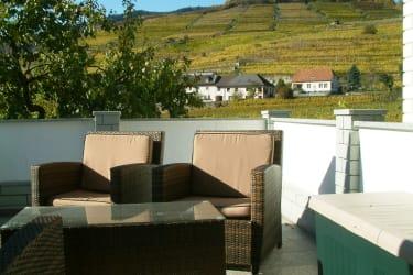 Terrasse mit Blick  auf dieWeingärten