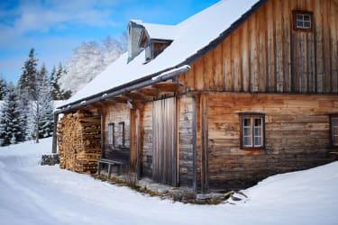 Winter auf der Almhütte