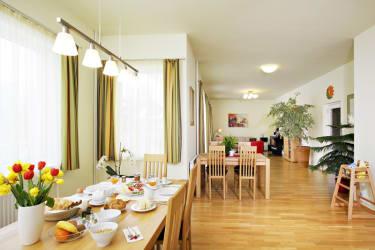 Pension Klug Frühstücks-und Aufenthaltsraum